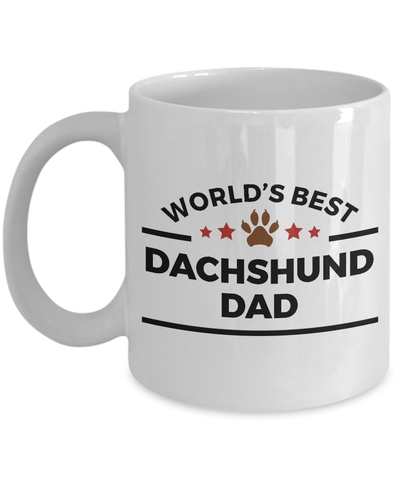 World's Best Dachshund Dad Ceramic Mug