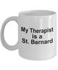 Saint Bernard Dog Owner Lover Funny Gift Therapist White Ceramic Coffee Mug