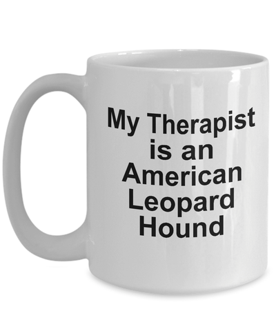 American Leopard Hound Dog Owner Lover Funny Gift Therapist White Ceramic Coffee Mug