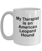 American Leopard Hound Dog Therapist Coffee Mug