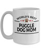 Puggle Lover Gift World's Best Dog Mom White Ceramic Coffee Mug