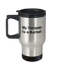 Barbet Dog Therapist Travel Coffee Mug