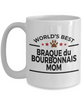 Braque du Bourbonnais Dog Lover Gift World's Best Mom Birthday Mother's Day White Ceramic Coffee Mug
