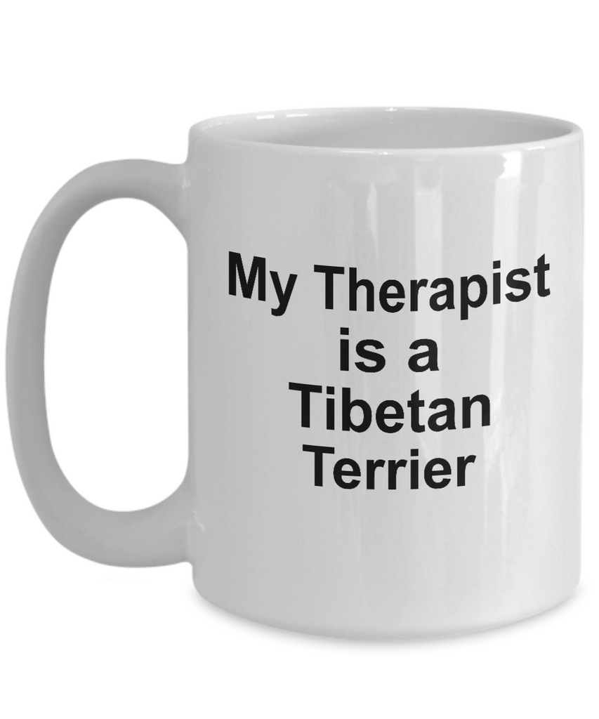 Tibetan Terrier Dog Owner Lover Funny Gift Therapist White Ceramic Coffee Mug