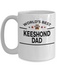 Keeshond Dog Lover Gift World's Best Dad Birthday Father's Day White Ceramic Coffee Mug