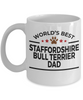 Staffordshire Bull Terrier Dog Dad Coffee Mug