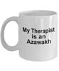 Azawakh Dog Owner Lover Funny Gift Therapist White Ceramic Coffee Mug