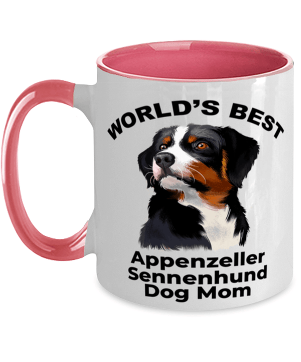 Appenzeller Sennenhund Best Dog Mom Two Tone Pink and White Coffee Mug
