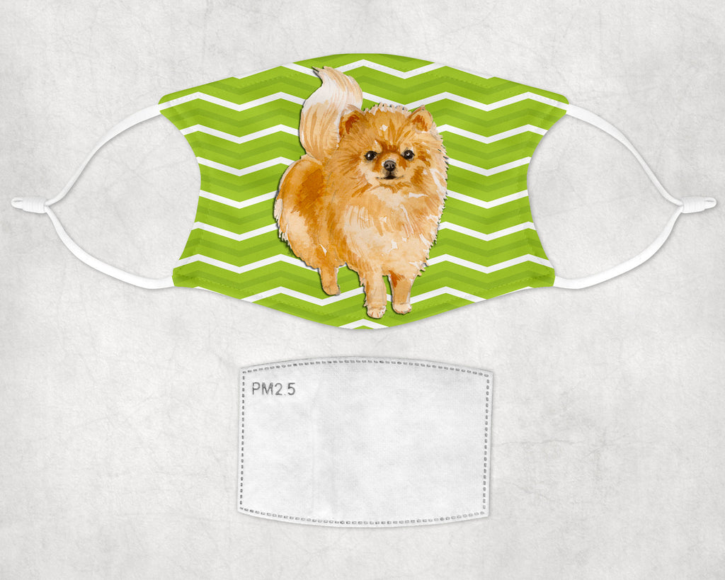 Pomeranian Dog Halloween child and adult face masks made in USA