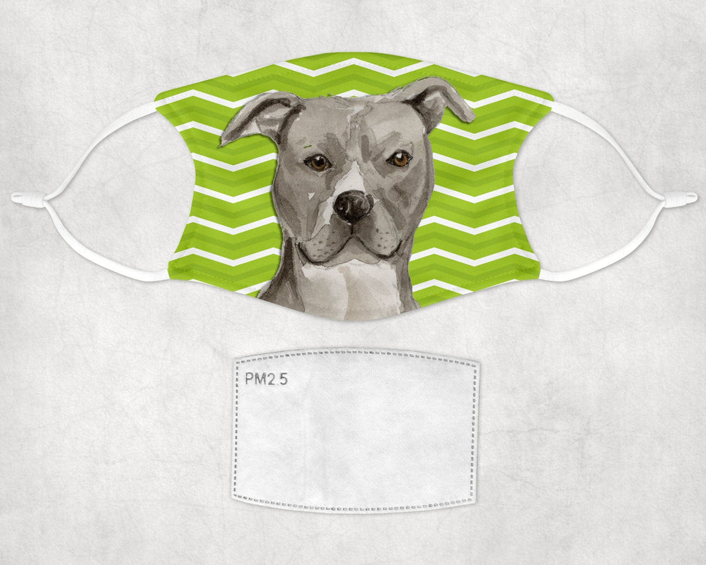American Staffordshire Terrier - Pit Bull - Halloween Print Face Mask Child and Adult Made in USA