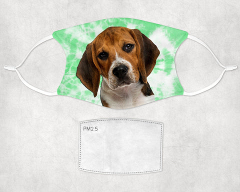 Beagle Puppy Dog tie dyed Face Mask Child and Adult Made in USA