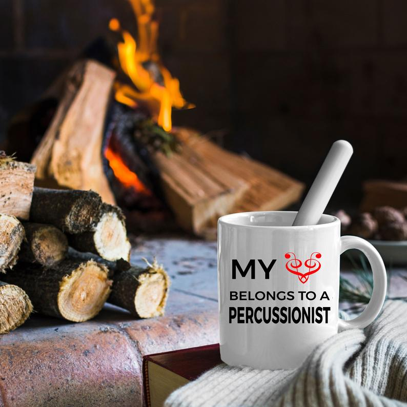 Percussionist Romantic Mug - My Heart Belongs to a Percussionist