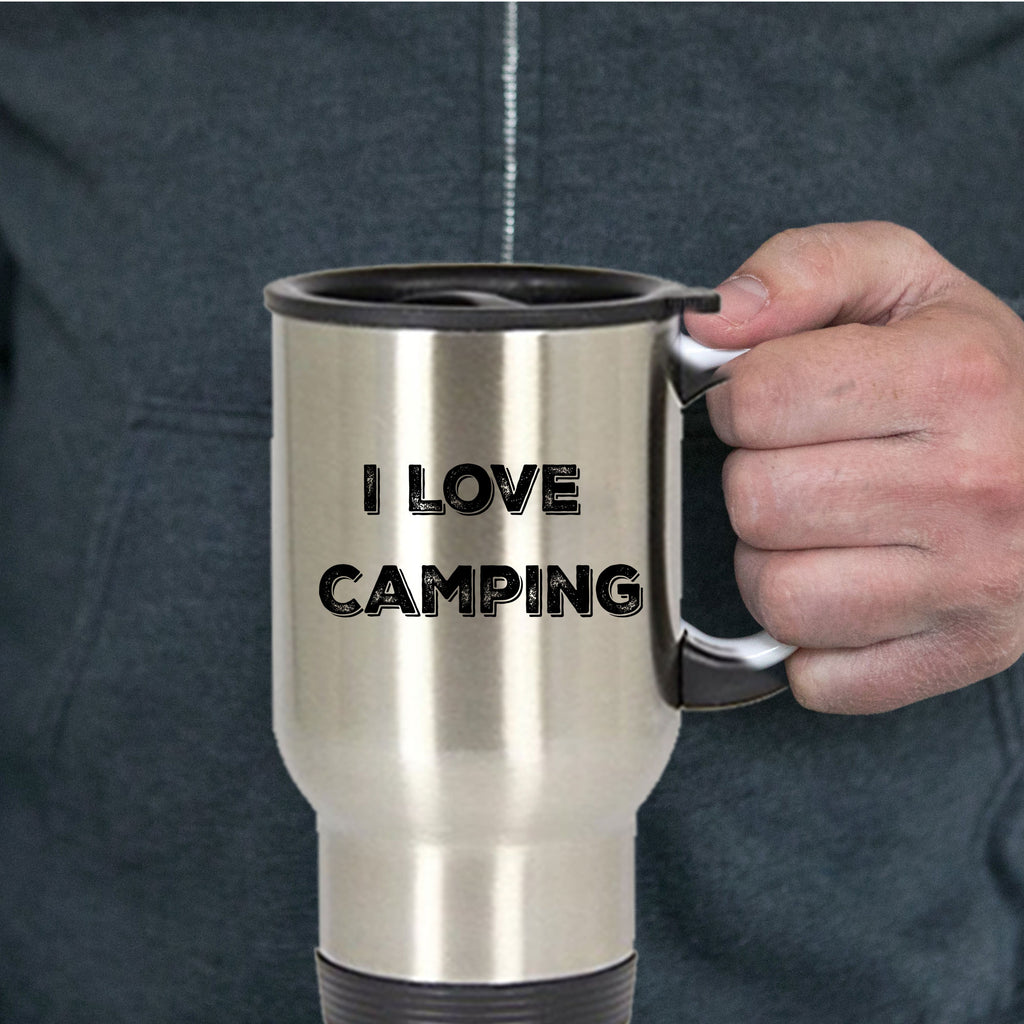 Camper Gift I Love Camping  Stainless Steel Insulated Travel Coffee Mug