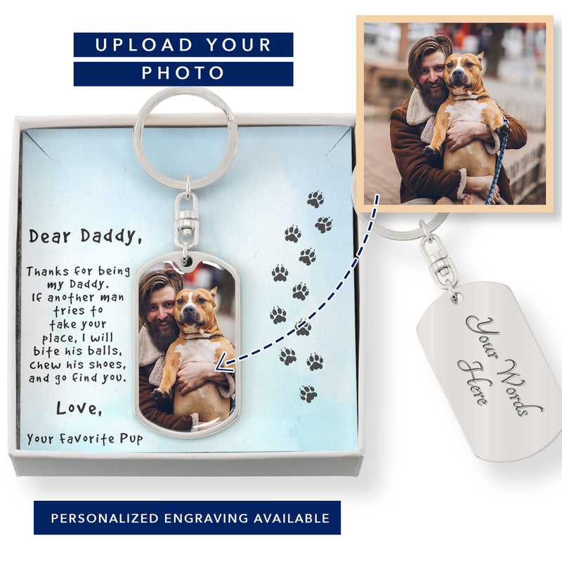 Funny Keychain Gift for Dog Dad