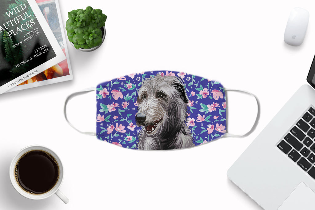 Scottish Deerhound Dog Face Masks printed in London, UK