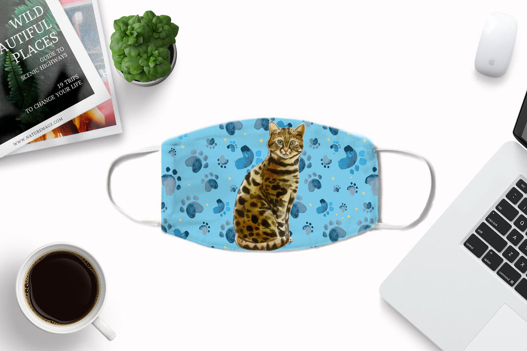 Bengal Cat Face Masks