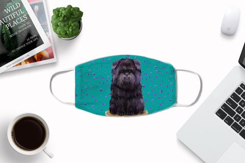 Affenpinscher puppy dog face mask -non-medical- child and adult sizes