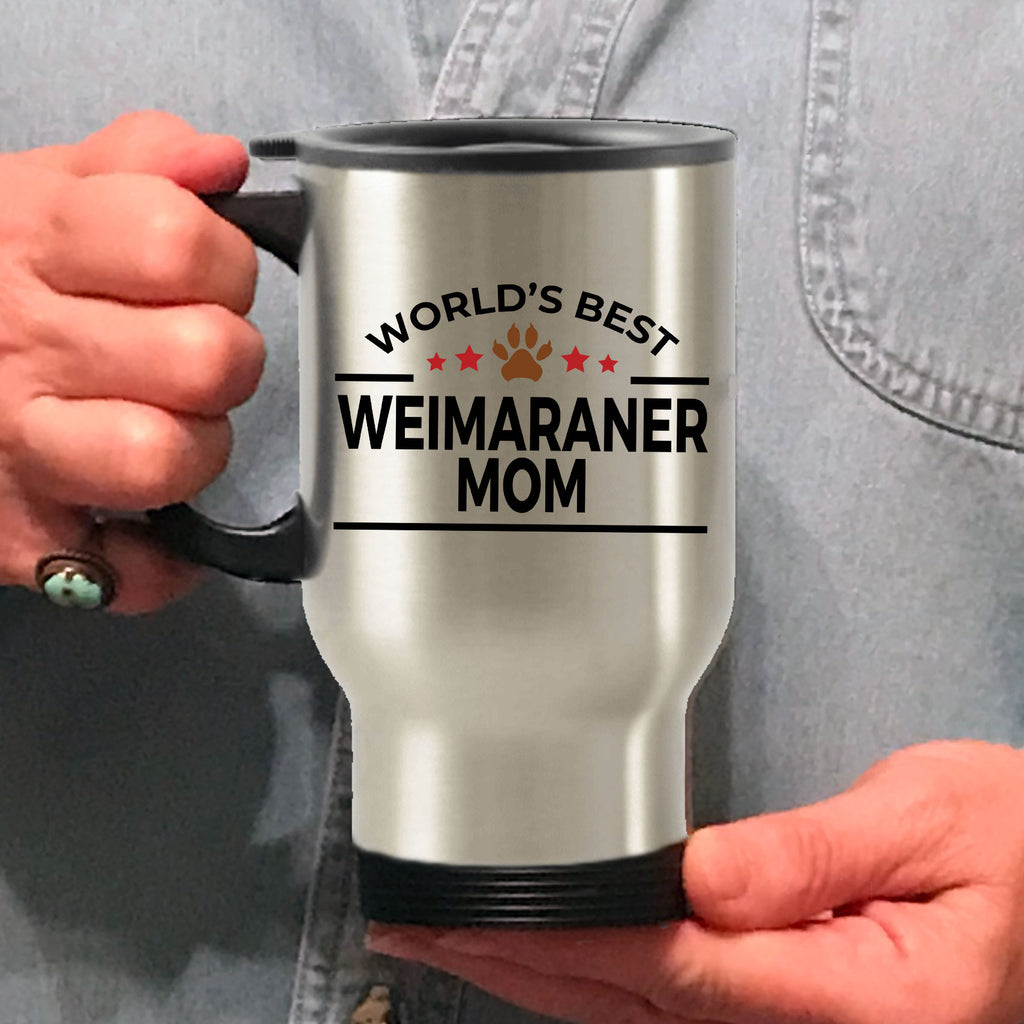 Weimaraner Dog Lover Gift World's Best Mom Birthday Mother's Day Stainless Steel Insulated Travel Coffee Mug