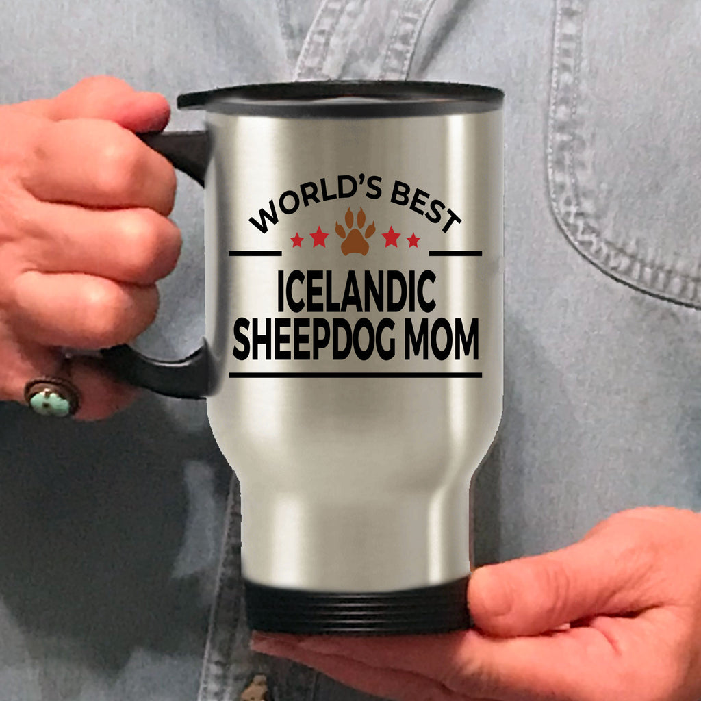 Icelandic Sheepdog Dog Mom Travel Mug