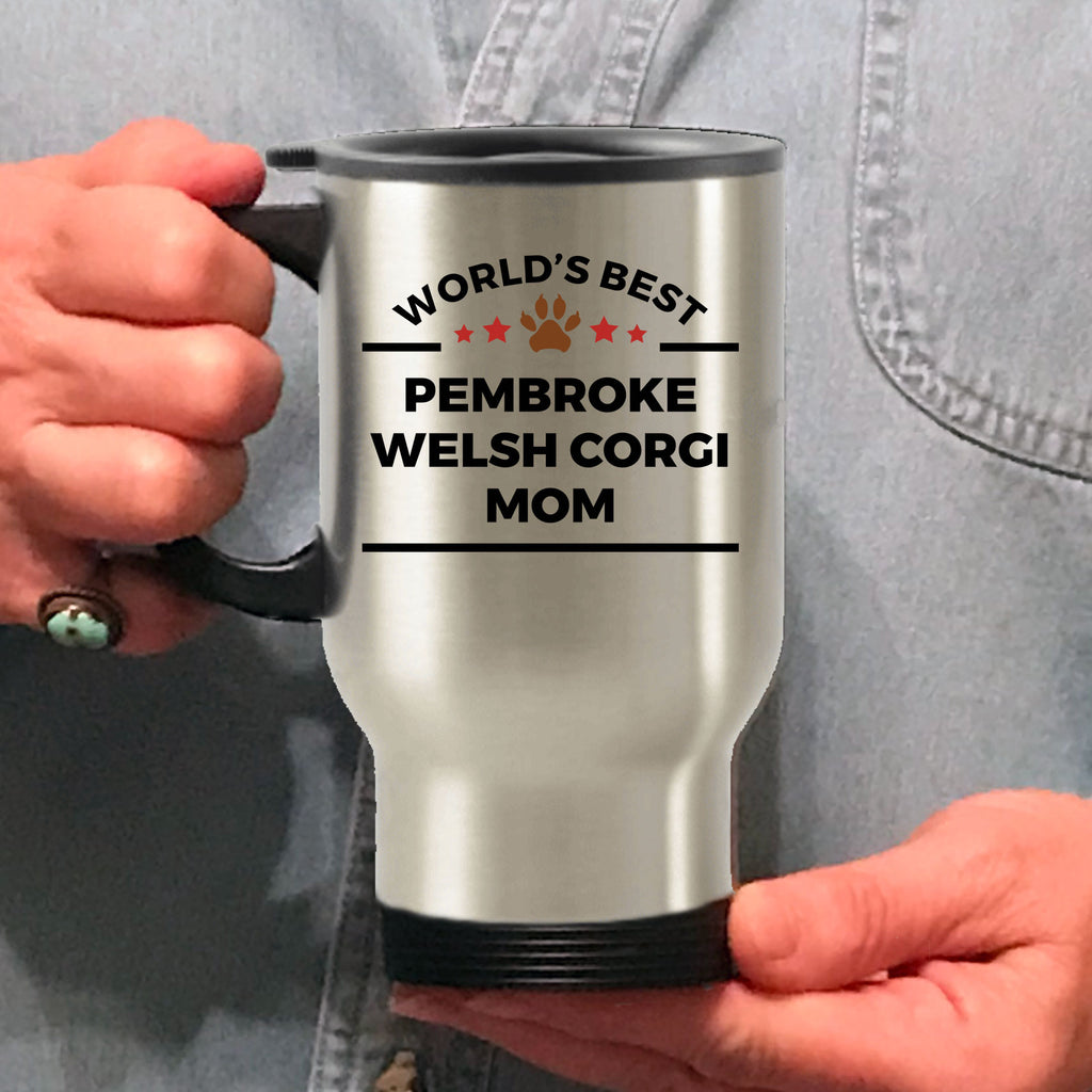 Pembroke Welsh Corgi Dog Mom Travel Coffee Mug