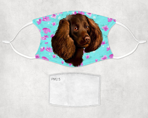 American Water Spaniel Dog Face Mask Child and Adult Made in USA
