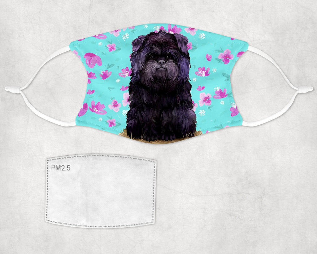 Affenpinscher puppy dog face mask child and adult sizes made in USA