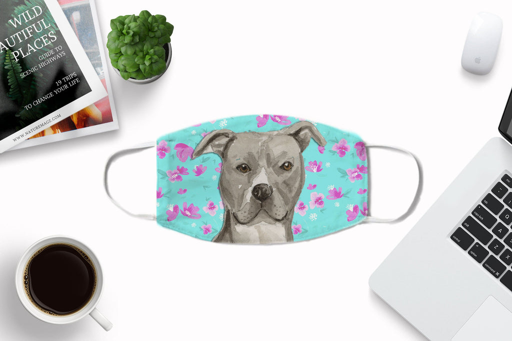 American Staffordshire Terrier - Pit Bull - washable with pocket and carbon filter