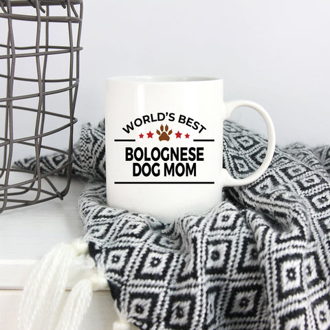 Bolognese Dog Lover Gift World's Best Mom Birthday Mother's Day White Ceramic Coffee Mug