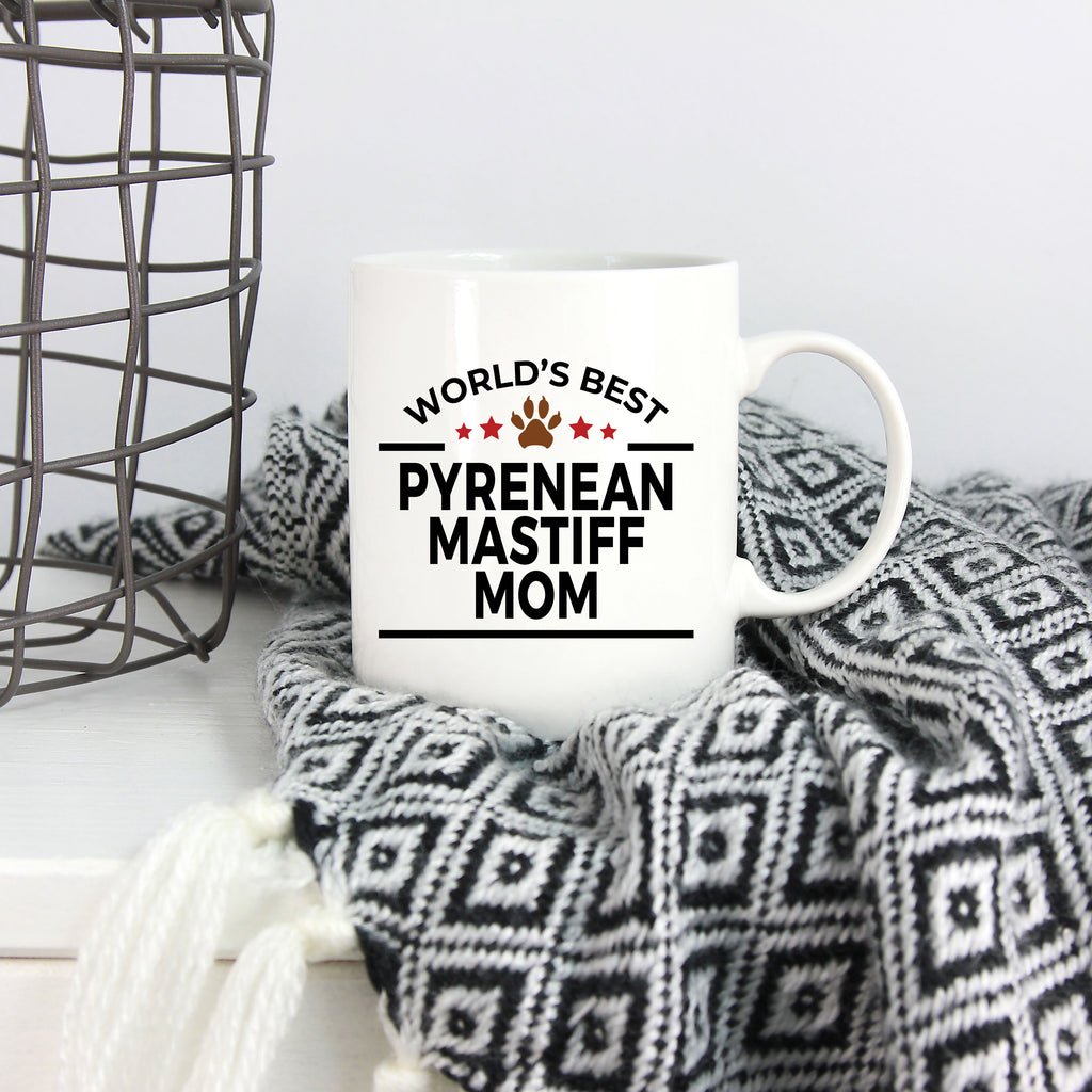 Pyrenean Mastiff Dog Lover Gift World's Best Mom Birthday Mother's Day White Ceramic Coffee Mug
