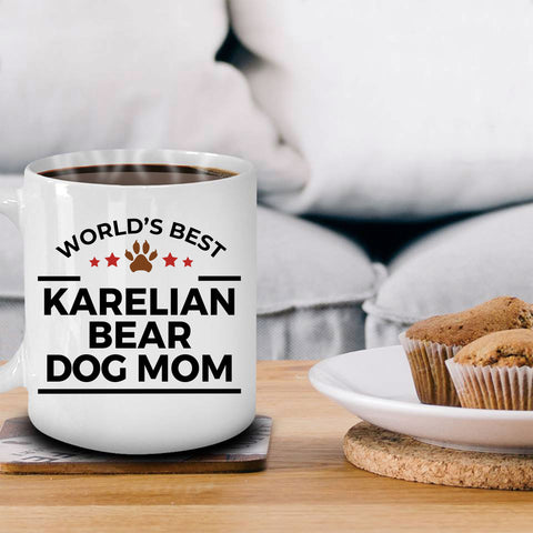 Karelian Bear Dog Lover Gift World's Best Mom Birthday Mother's Day White Ceramic Coffee Mug