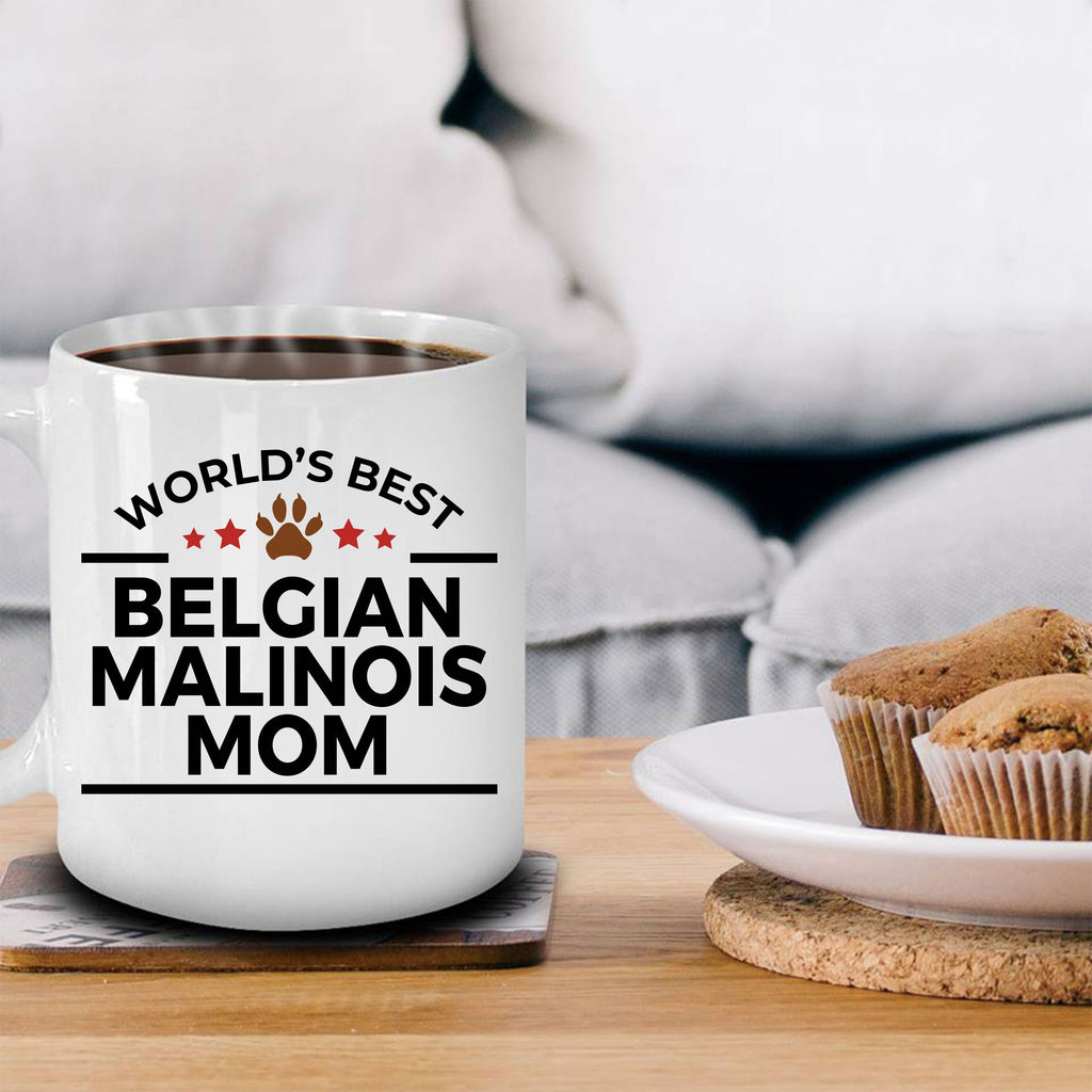 Belgian Malinois Dog Lover Gift World's Best Mom Birthday Mother's Day White Ceramic Coffee Mug