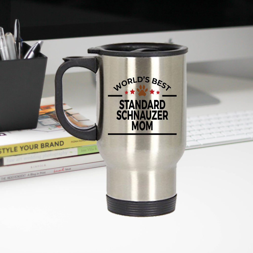 Standard Schnauzer Dog Mom Travel Mug
