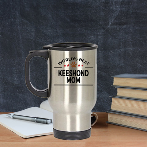 Keeshond Dog Mom Travel Mug