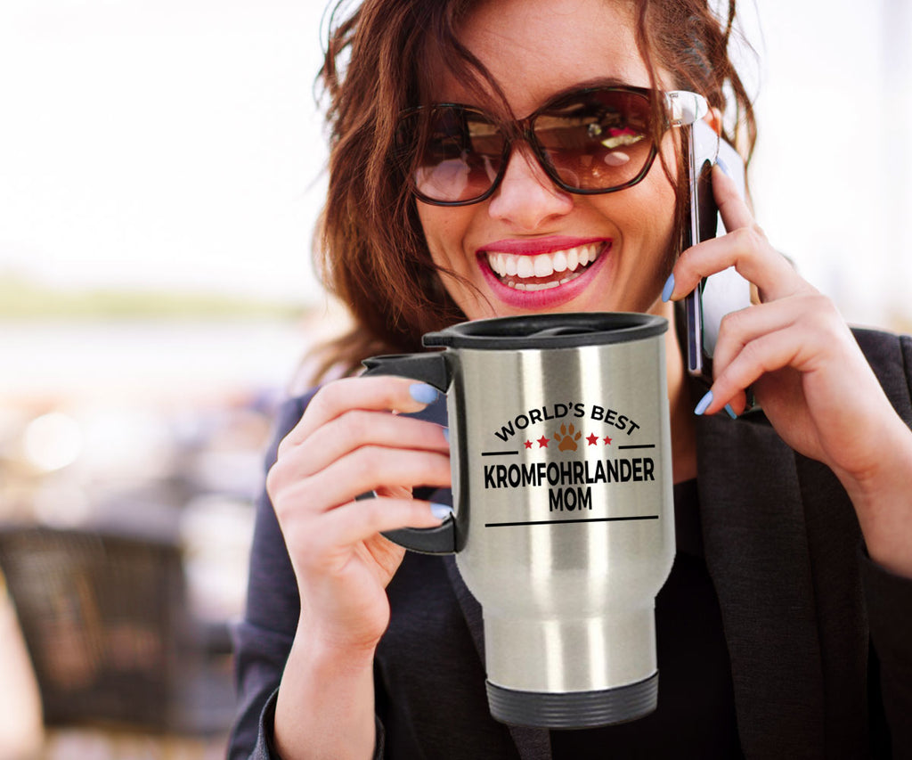 Kromfohrlander Dog Mom Travel Mug