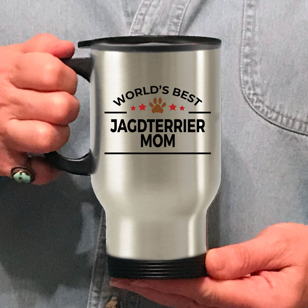 Jagdterrier Dog Lover Gift World's Best Mom Birthday Mother's Day Stainless Steel Insulated Travel Coffee Mug