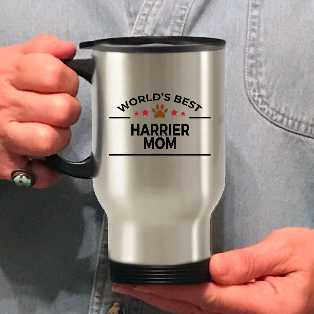 Harrier Dog Lover Gift World's Best Mom Birthday Mother's Day Stainless Steel Insulated Travel Coffee Mug