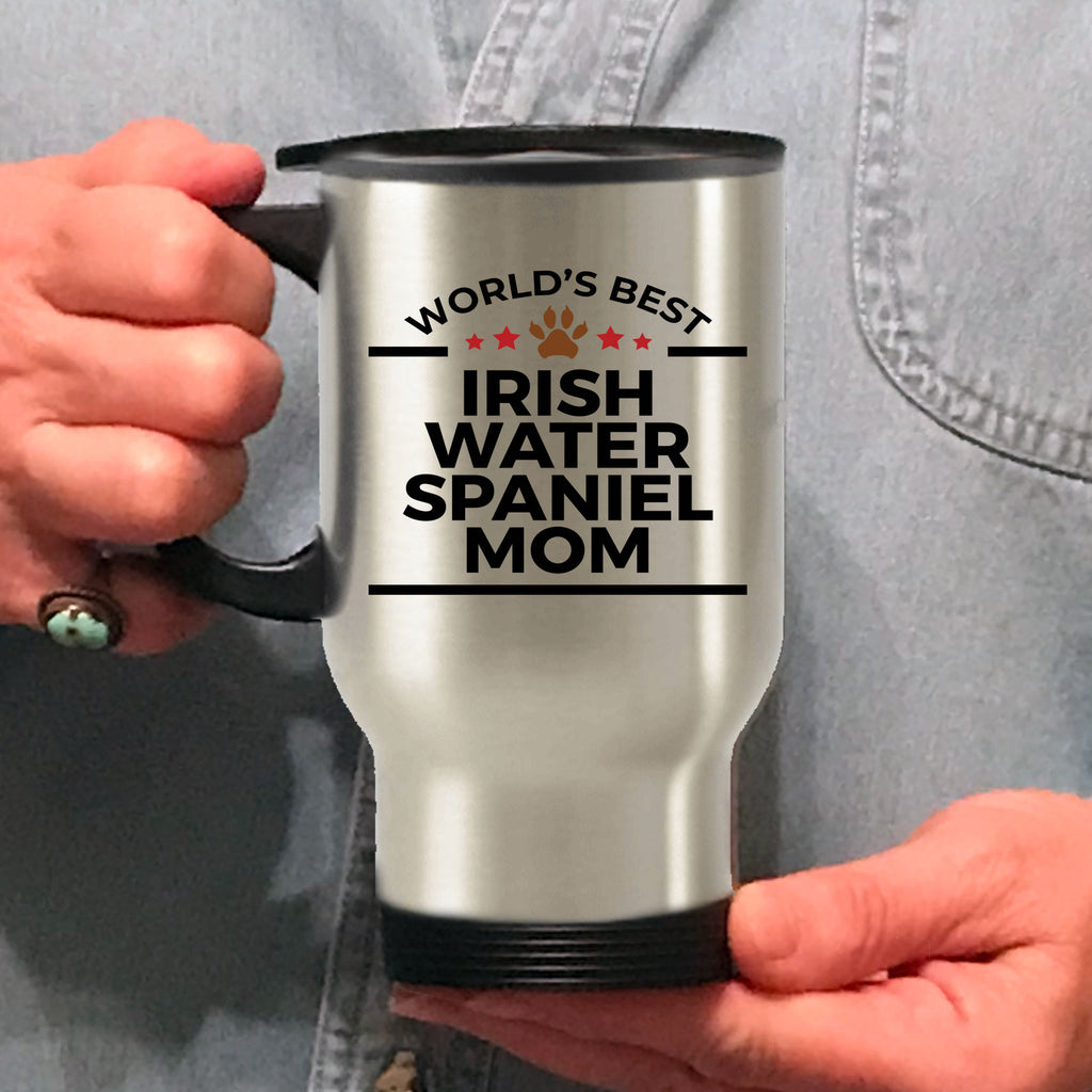 Irish Water Spaniel Dog Lover Gift World's Best Mom Birthday Mother's Day Stainless Steel Insulated Travel Coffee Mug