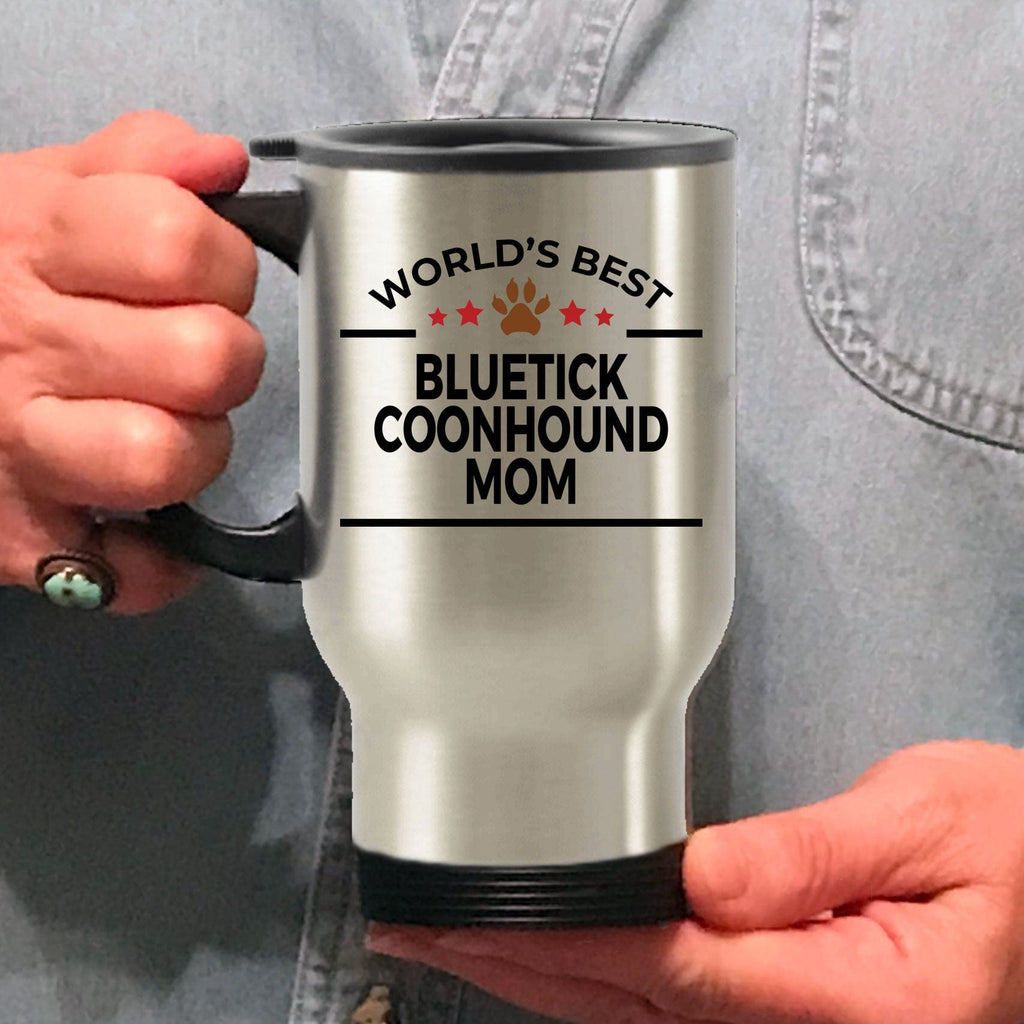 Bluetick Coonhound Dog Mom Travel Mug