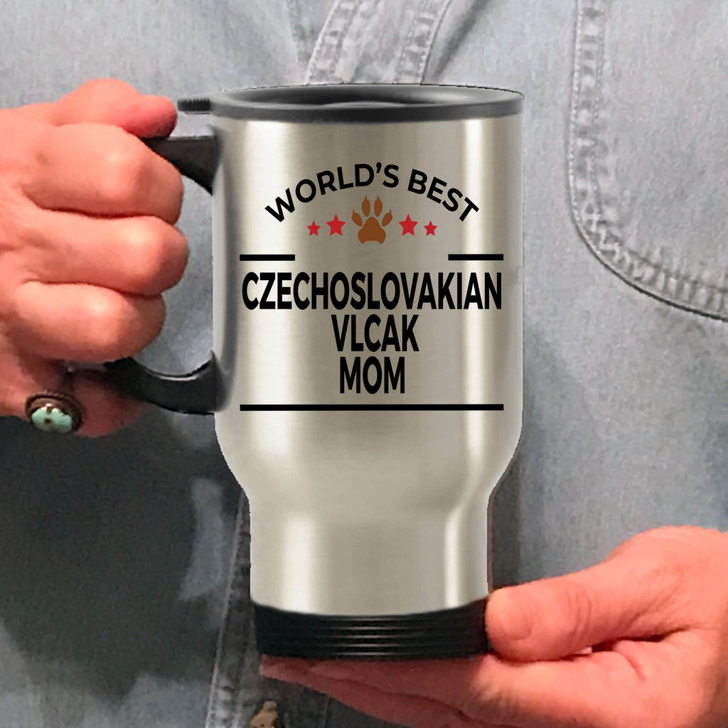 Czechoslovakian Vlcak Dog Lover Gift World's Best Mom Birthday Mother's Day Stainless Steel Insulated Travel Coffee Mug