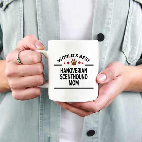 Hanoverian Scenthound Dog Lover Gift World's Best Mom Birthday Mother's Day White Ceramic Coffee Mug