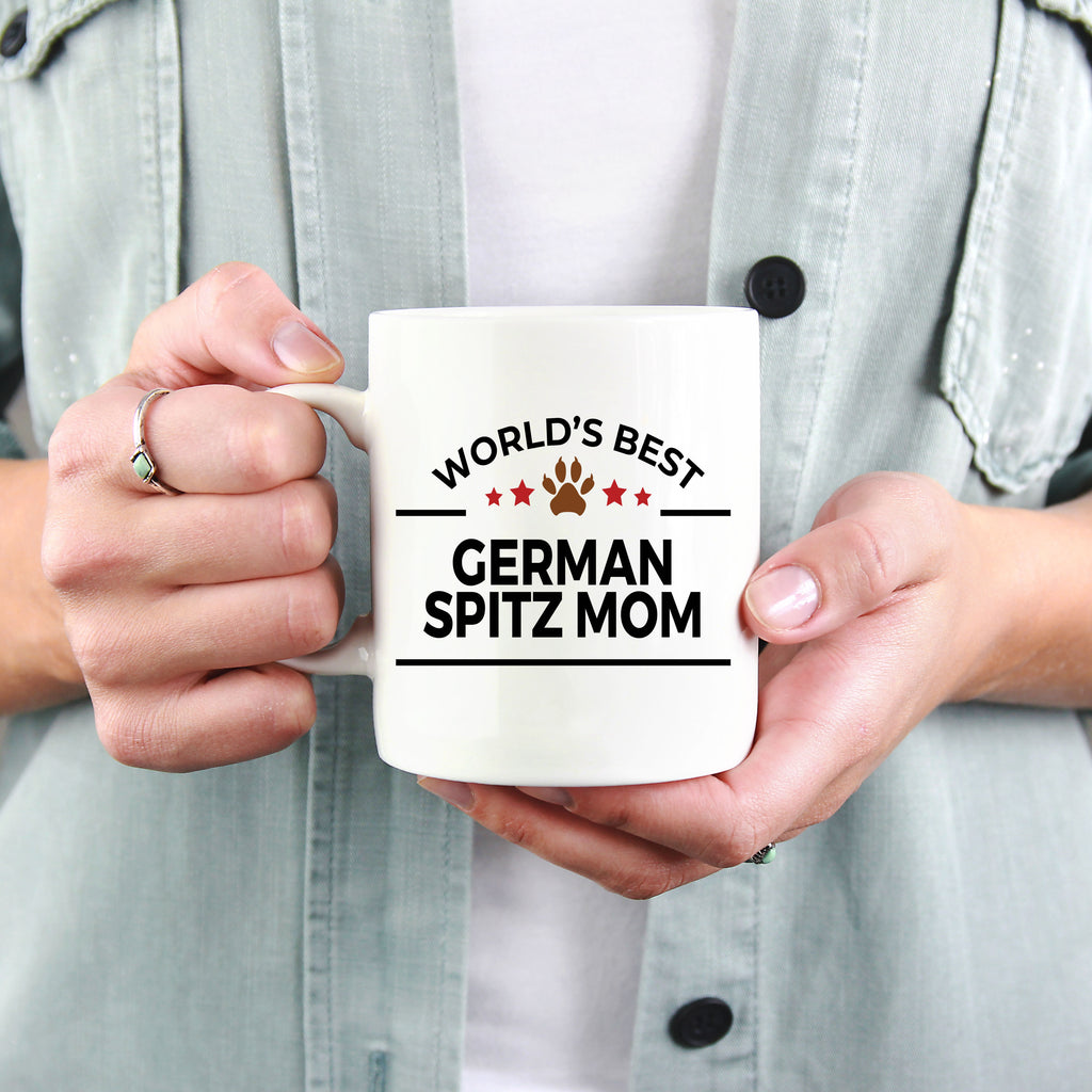 German Spitz Dog Lover Gift World's Best Mom Birthday Mother's Day White Ceramic Coffee Mug