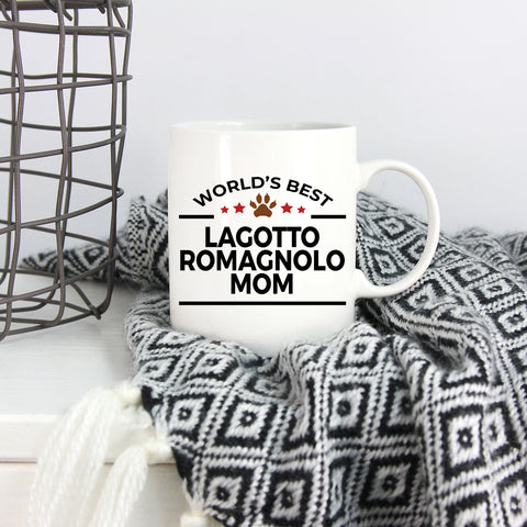 Lagotto Romagnolo Dog Lover Gift World's Best Mom Birthday Mother's Day White Ceramic Coffee Mug