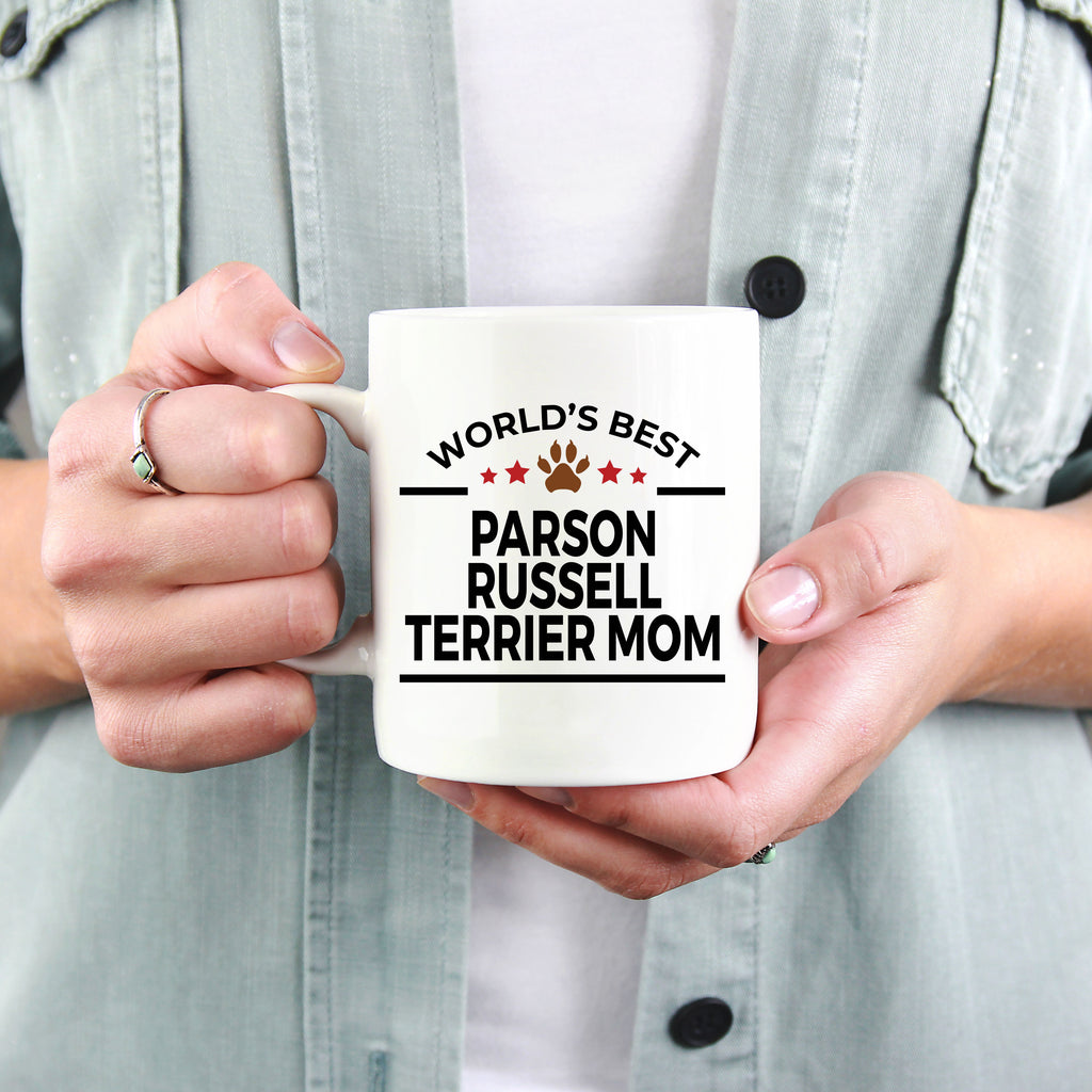 Parson Russell Terrier Dog Lover Gift World's Best Mom Birthday Mother's Day White Ceramic Coffee Mug