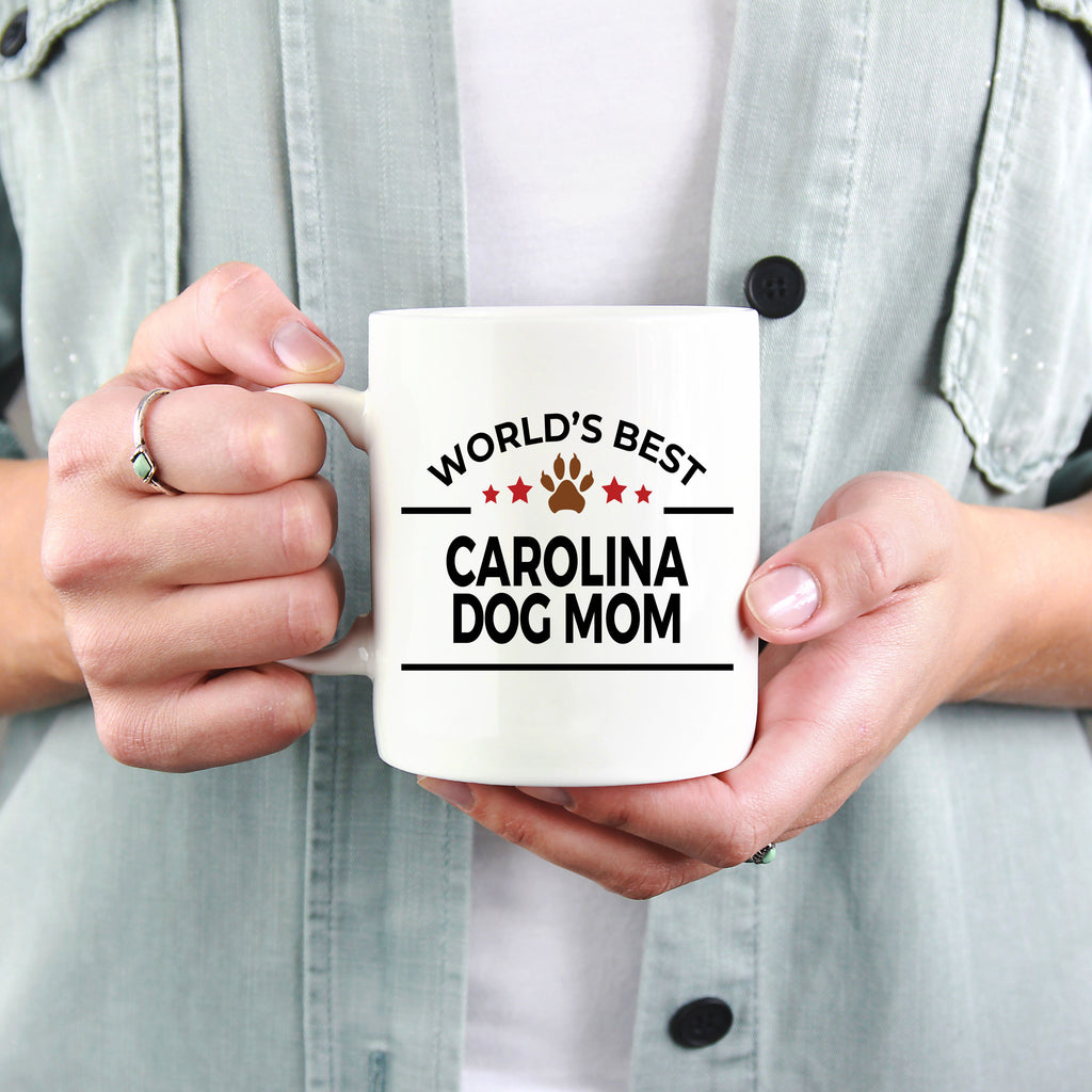 Carolina Dog Lover Gift World's Best Mom Birthday Mother's Day White Ceramic Coffee Mug