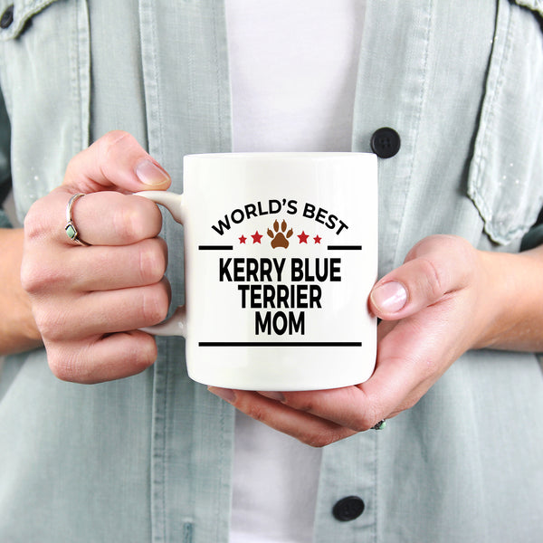 Kerry Blue Terrier Dog Lover Gift World's Best Mom Birthday Mother's Day White Ceramic Coffee Mug