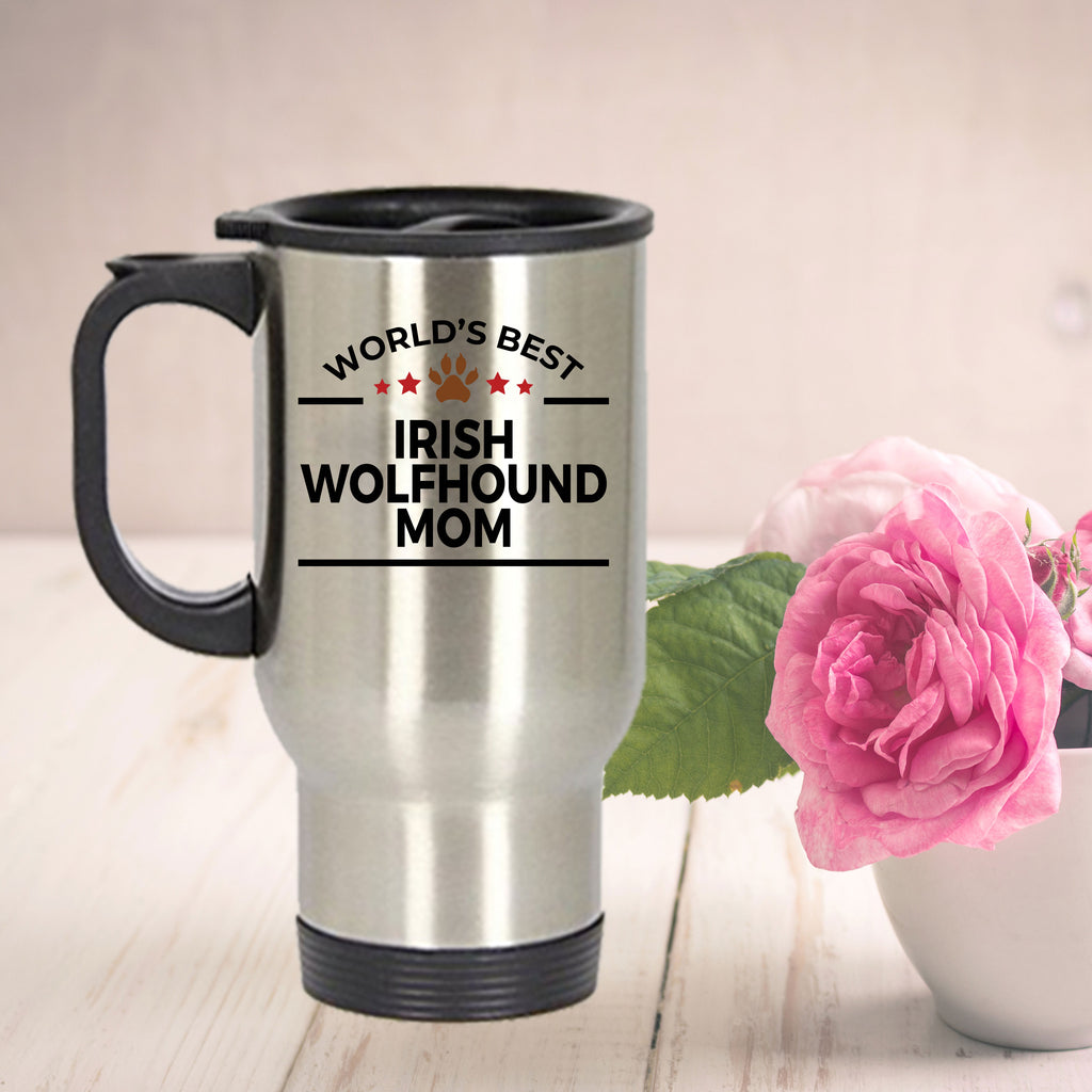 Irish Wolfhound Dog Mom Travel Mug