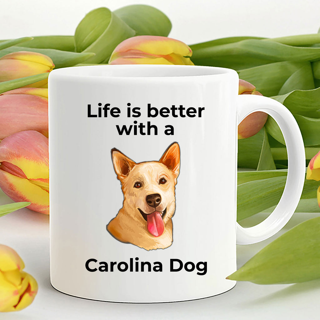 Carolina Yellow Dog Coffee Mug - Life is Better with a Carolina Dog