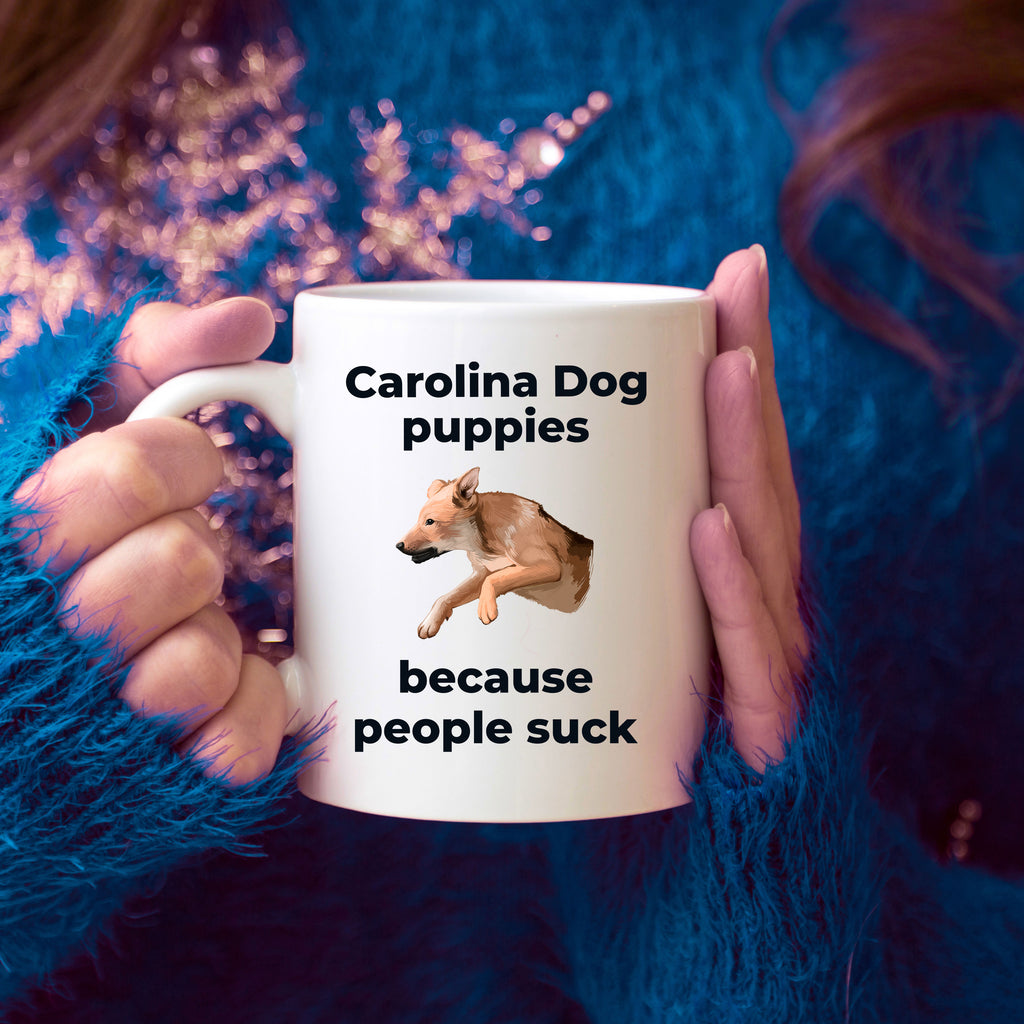 Carolina Dog Coffee Mug - Carolina Puppies because people sick