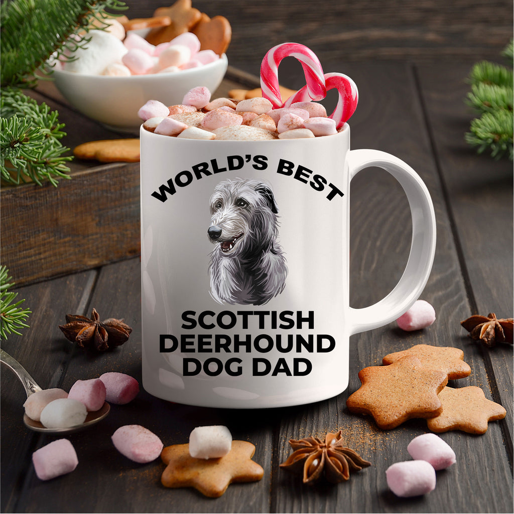 Scottish Deerhound Best Dog Dad Ceramic Coffee Mug
