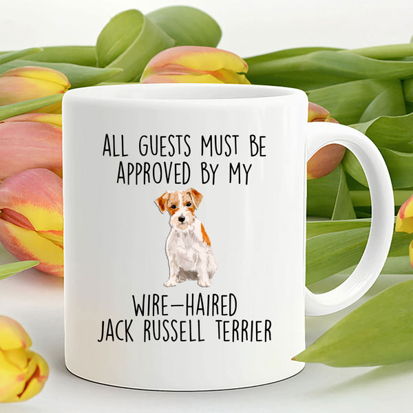 Funny Wire-haired Jack Russell Terrier Dog Custom Ceramic Coffee Mug - Guests must be approved